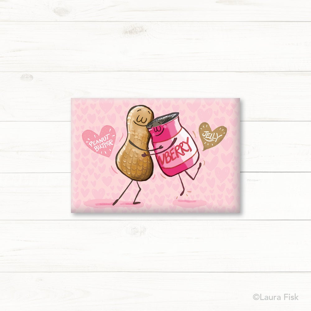 Image of PB & J Peanut Butter and Jelly Fridge Magnet