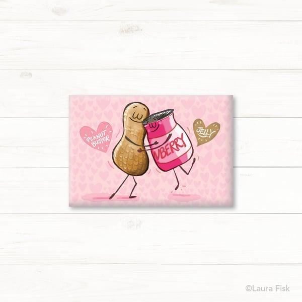 Image of PB & J Peanut Butter and Jelly Fridge Magnet