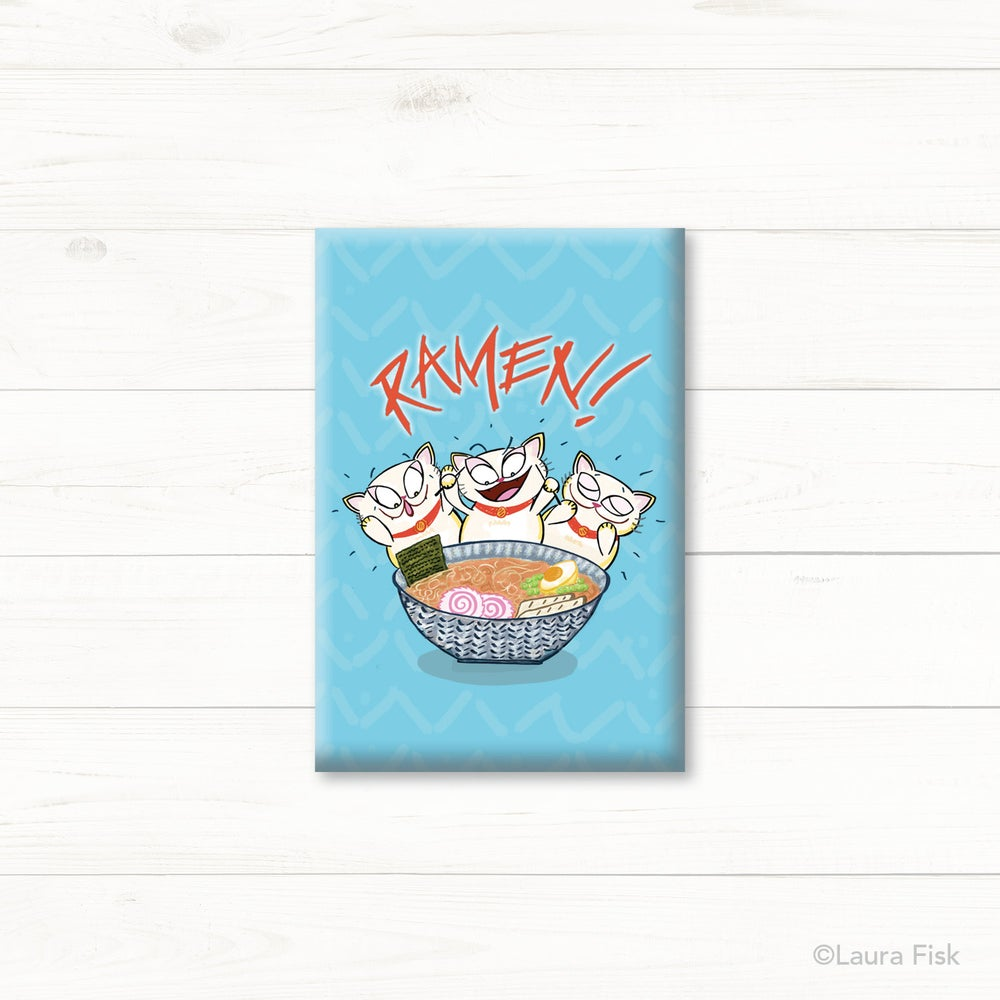 Image of Ramen Cats Fridge Magnet
