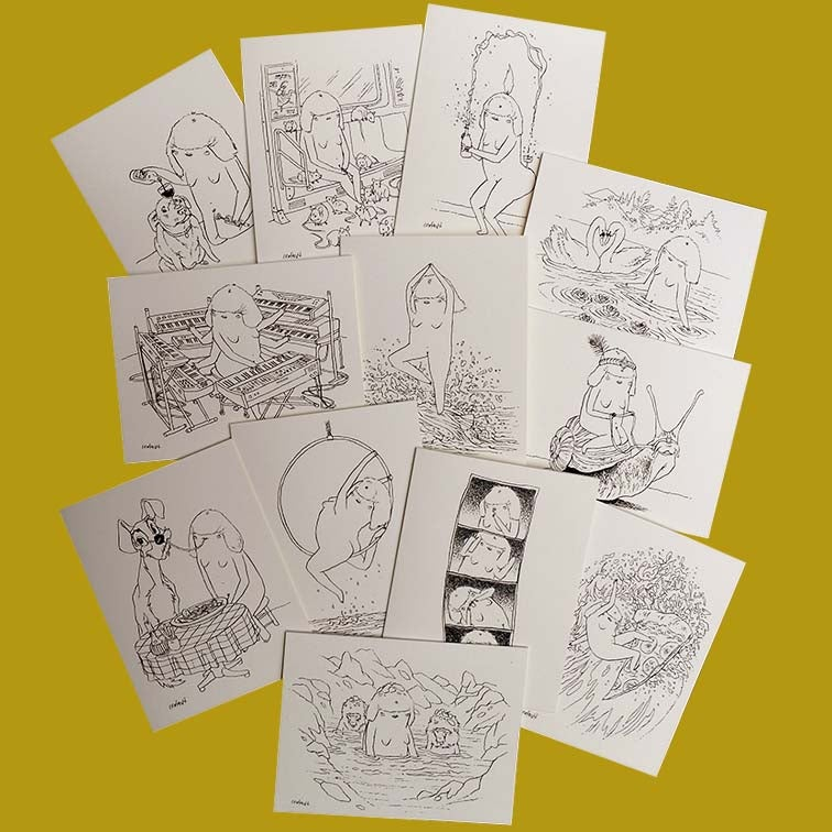Image of TWENTY FOUR HOUR WOMAN Greeting Cards • series 4