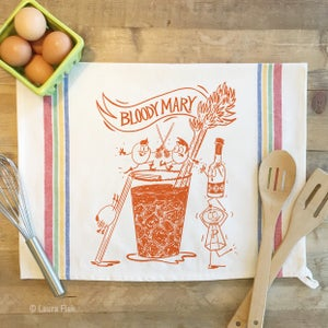 Image of Bloody Mary Funny Food Tea Towel