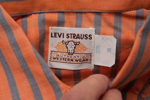 Image of Deadstock 1950's LEVIS Short Horn Saw Tooth Western Shirt Size 36 Original Big E Era