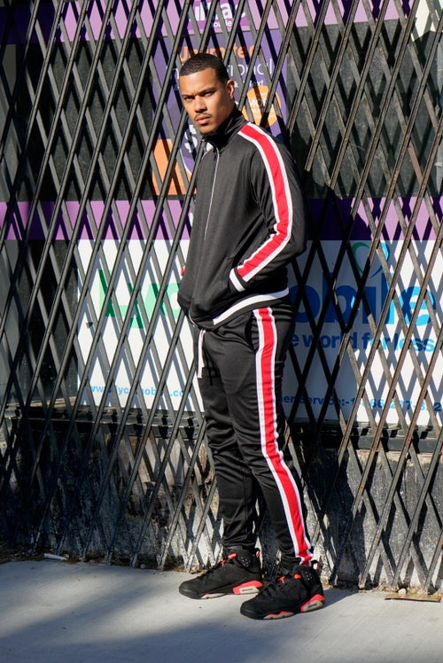 Image of Mens Leisurewear- Red/Black