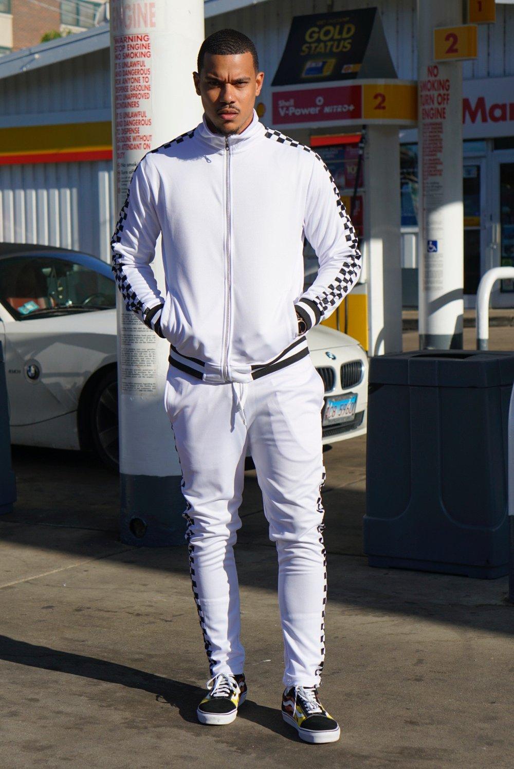 Image of Mens Leisurewear- White/Black