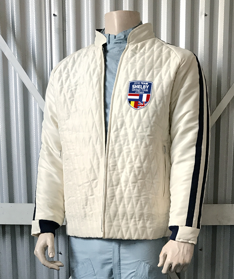 Image of ** PRE ORDER NOW FOR THE TOUR! ** 2018 TEAM SHELBY CREAM GRAND TOUR JACKET