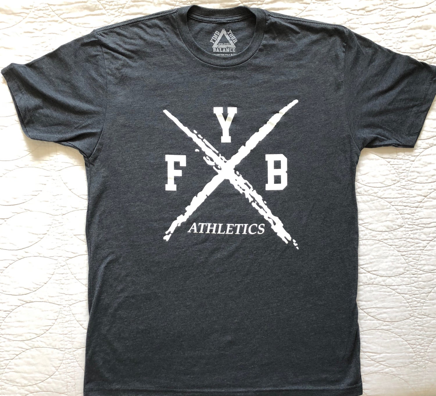 "Image of ""X"" MENS CREW - DARK HEATHER GREY"