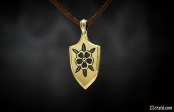 Image of Arrowhead with Flower