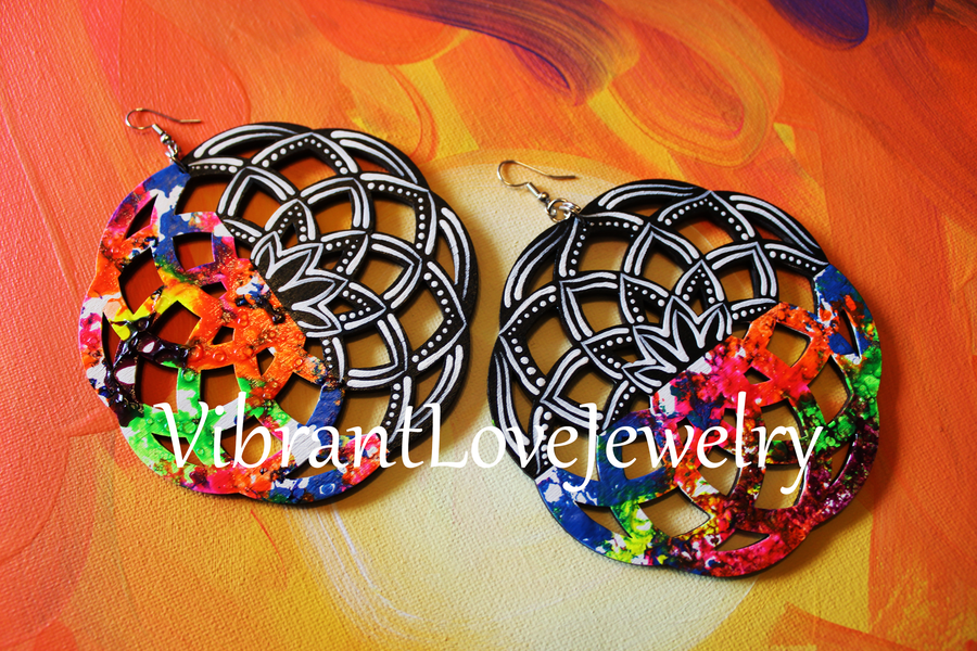 "Image of ""Sacred Geometry"" Earrings"