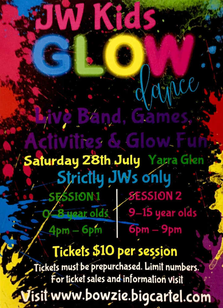 Image of SESSION 1 (0-8yrs) JW KIDS GLOW DANCE