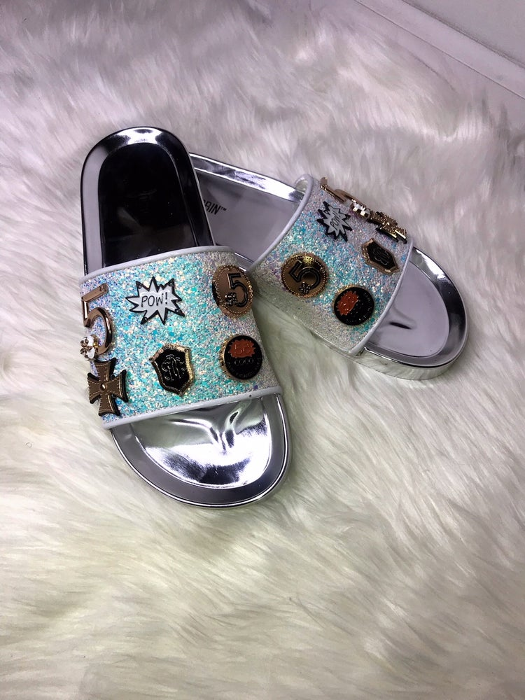 993ac8d815051 Image of White Jeweled Sandals ...