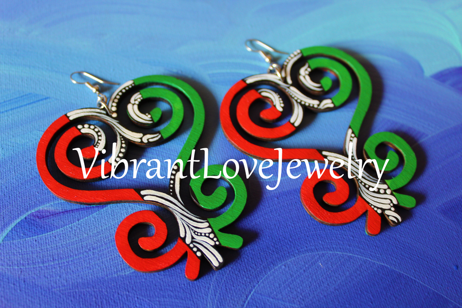 "Image of ""Sankofa Love"" earrings!"