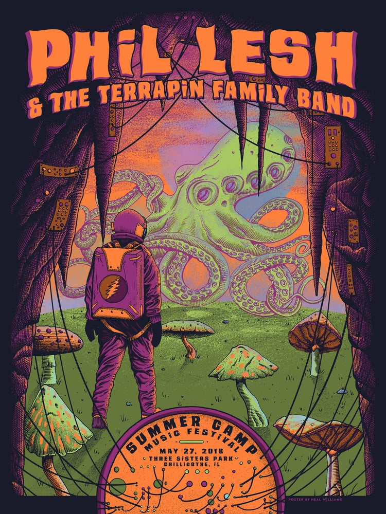Image of Phil Lesh & The Terrapin Family Band at Summer Camp Fest Poster - Foil Variant