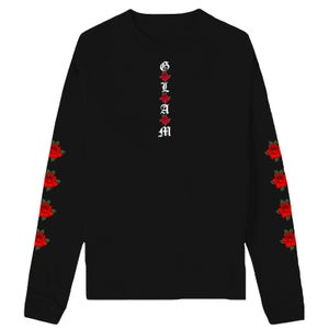 Image of SOLD OUT   BLACK GLAM ROSES LONG SLEEVE T SHIRT   EXCLUSIVE RELEASE