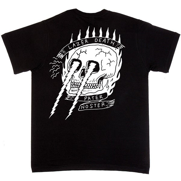 Image of Lazer Death Tshirt Black back print