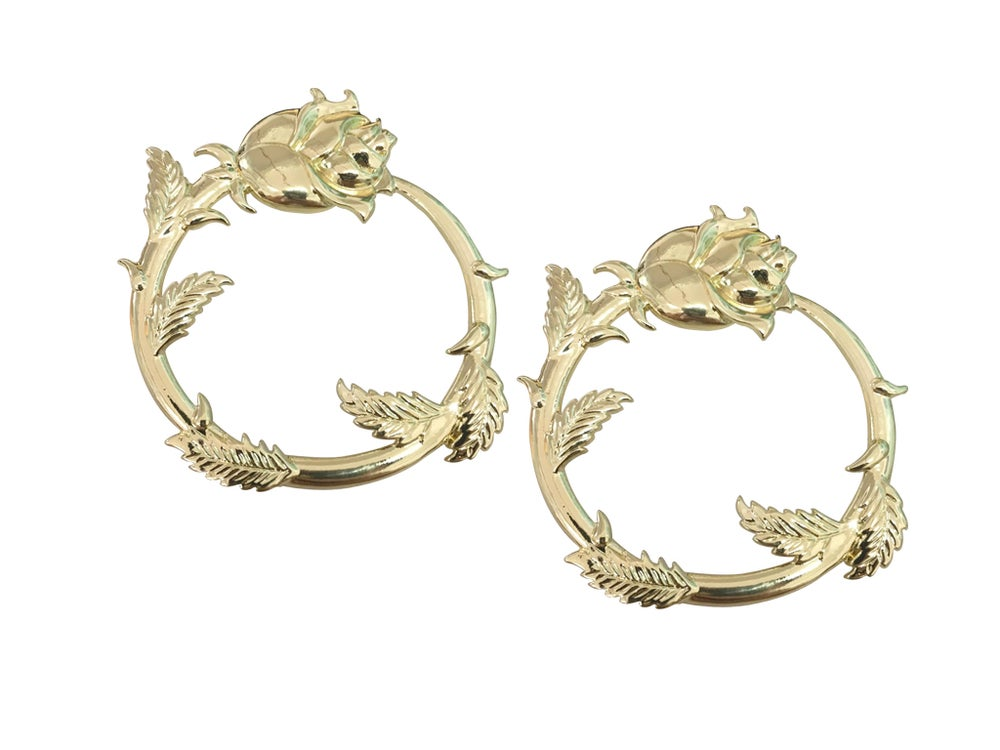 Image of Sweet Rose Hoops