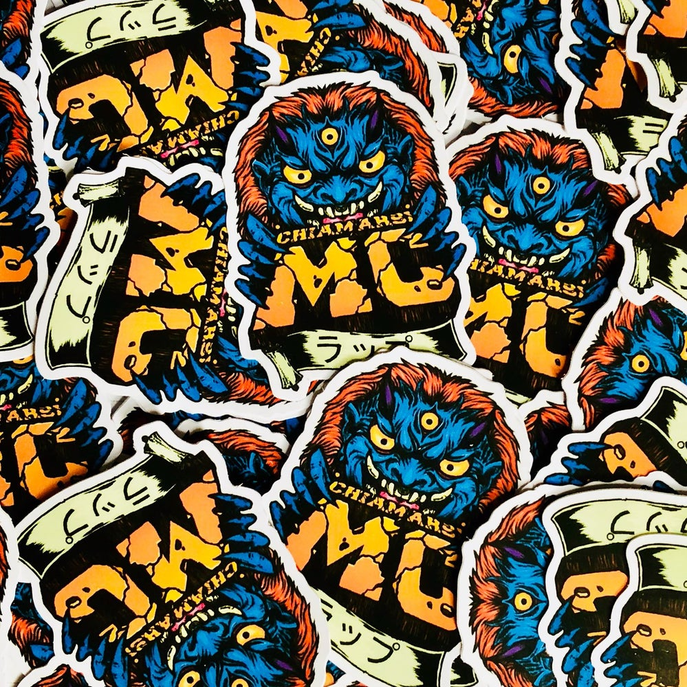 "Image of CHIAMARSI MC 3-Stickers-Pack ""MEME MONSTER"" LIMITED EDITION"