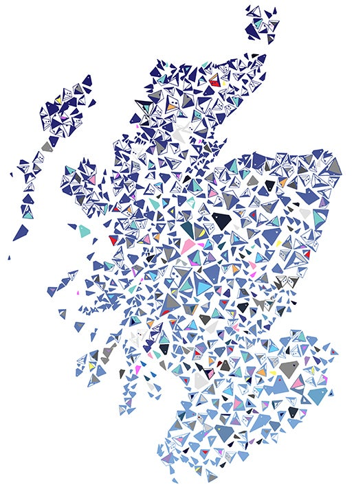 Image of Scotland Shapes Map