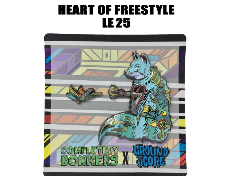 Image of Completely Bonkers - Heart of Freestyle 3D Pin (LE 25 - OG)