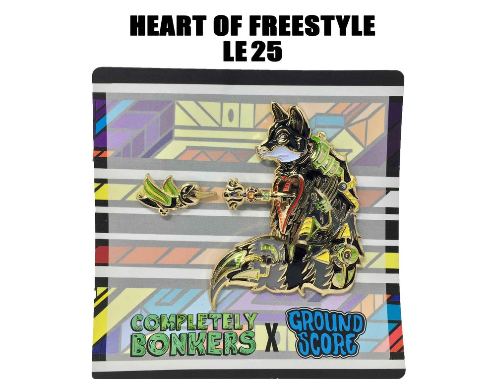 Image of Completely Bonkers - Heart of Freestyle 3D Pin (LE 25 - Partial Murdered)