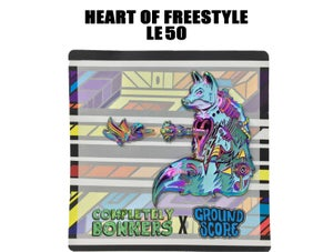 Completely Bonkers - Heart of Freestyle 3D Pin (LE 50 - Anodized)
