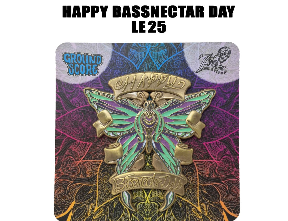 Image of Z&P - Happy Bassnectar Day 3D Pin (LE 25 - Antique Gold)