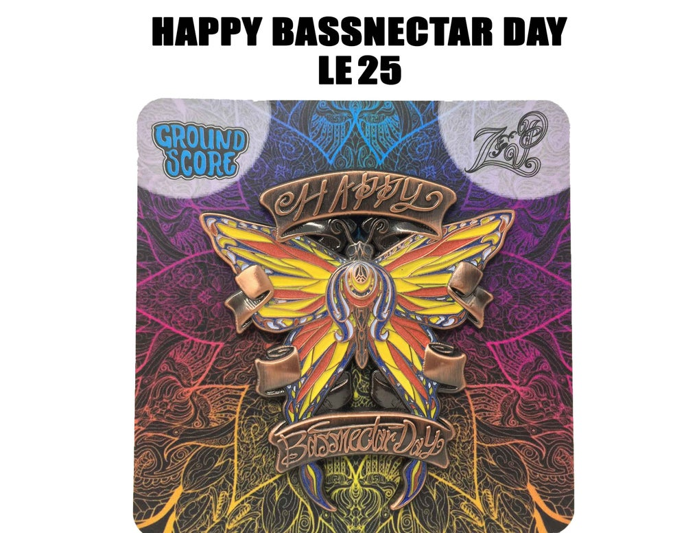 Image of Z&P - Happy Bassnectar Day 3D Pin (LE 25 - Antique Copper)