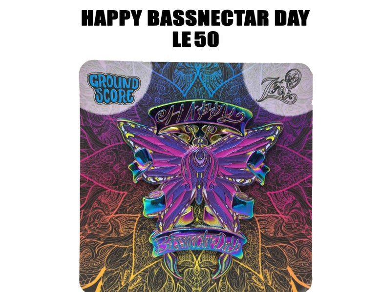 Image of Z&P - Happy Bassnectar Day 3D Pin (LE 50 - Anodized)