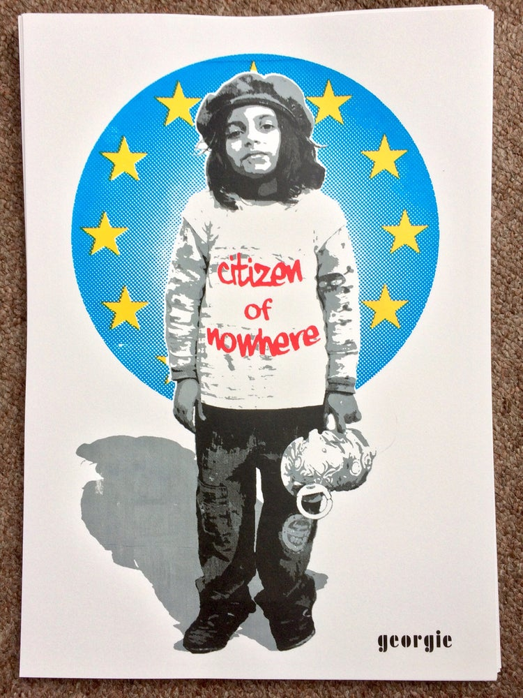 Image of Citizen of nowhere. EU Edition screen Print.