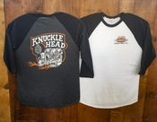 Image of *Presale Unisex White/Black Raglan Blue Groove& Lawrence Vintage Cycle Collaboration in all 3 prints