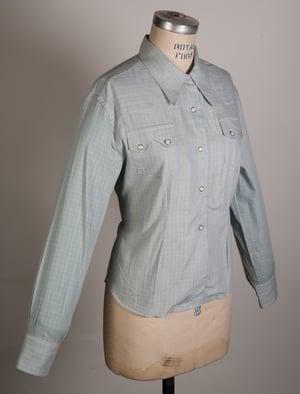 Image of Womens Deadstock 1950's LEVIS Short Horn Saw Tooth Western Shirt Size 38 Original Big E Era