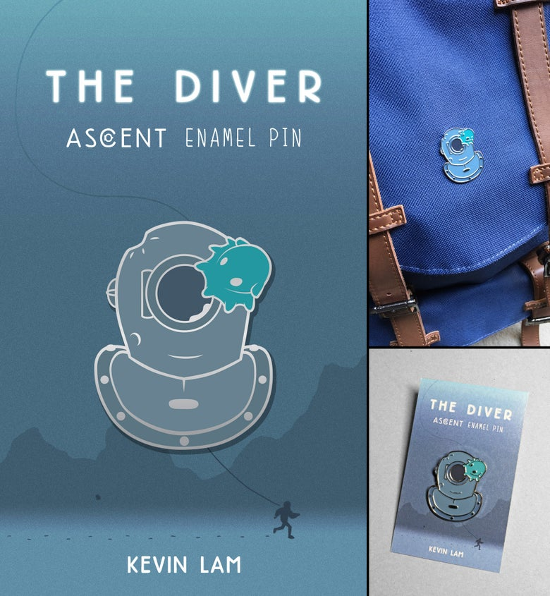 Image of The Diver Enamel Pin