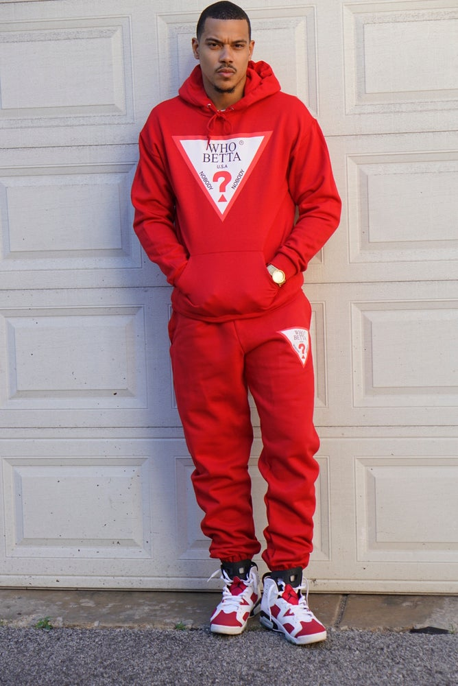 Image of WhoBetta Logo Red-unisex Set