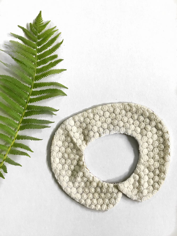 Image of Reversible Pan Collar in liberty + textured dots