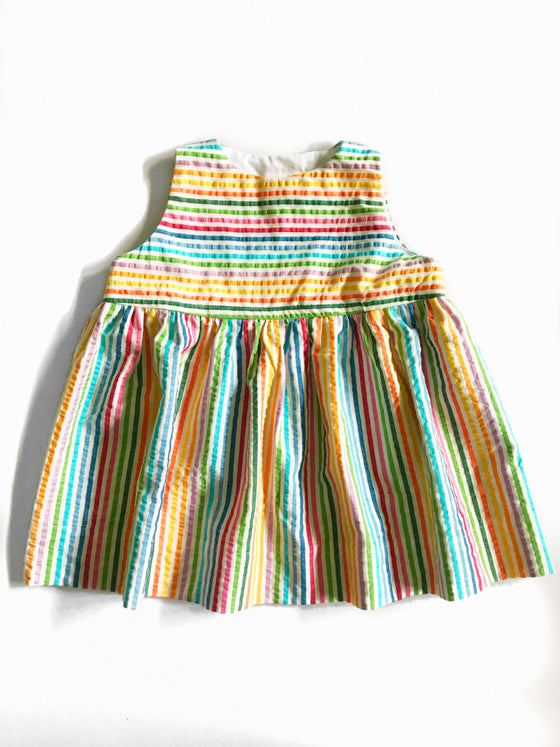Image of [multicolor stripes] Sleeveless Twirl Dress