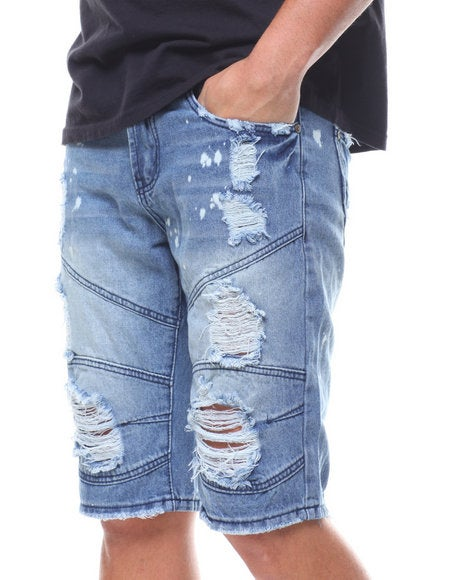 Image of Moto Denim Shorts