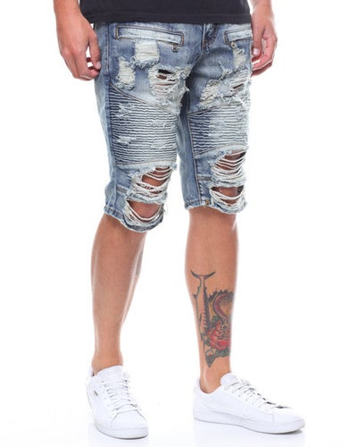 Image of Distressed Moto Shorts