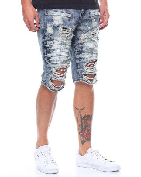 Image of Distressed Moto Shorts