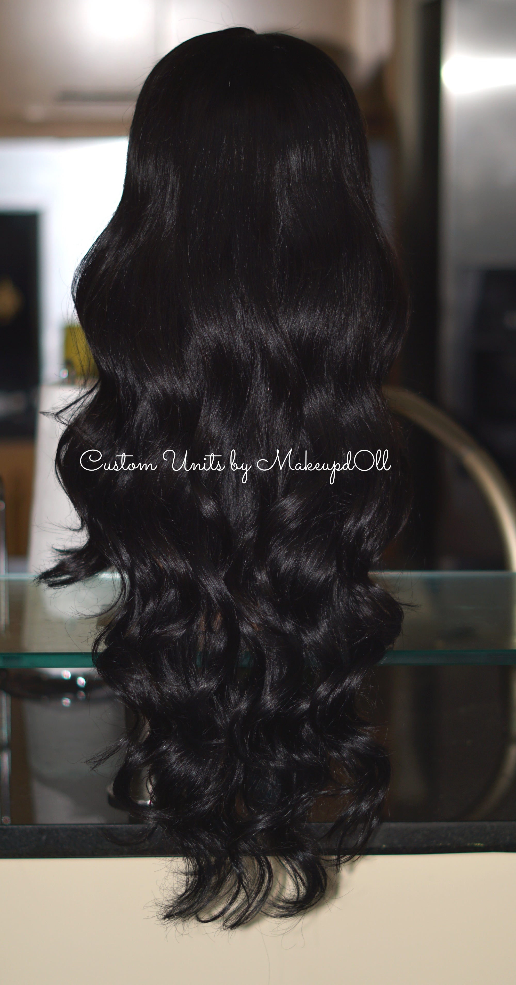 "Image of Brazilian Mink Natural Wave 24"" Lace Closure Wig!"