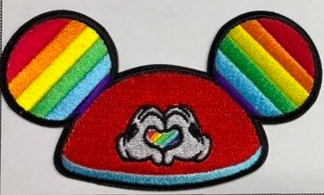 """Image of Diz PRIDE Ears Patch 4"""" - In Production"""
