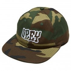 Image of OBEY - RUNNIN 6 PANEL HAT (FIELD CAMO)