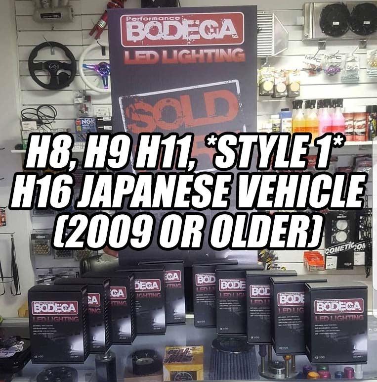 Image of Performance Bodega h8, h9 h11, (style 1)(h16 Japanese vehicle)(2009 or older)