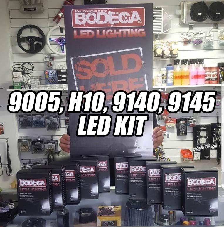 """Image of Performance bodega """"9005, h10, 9140, 9145"""" led set"""