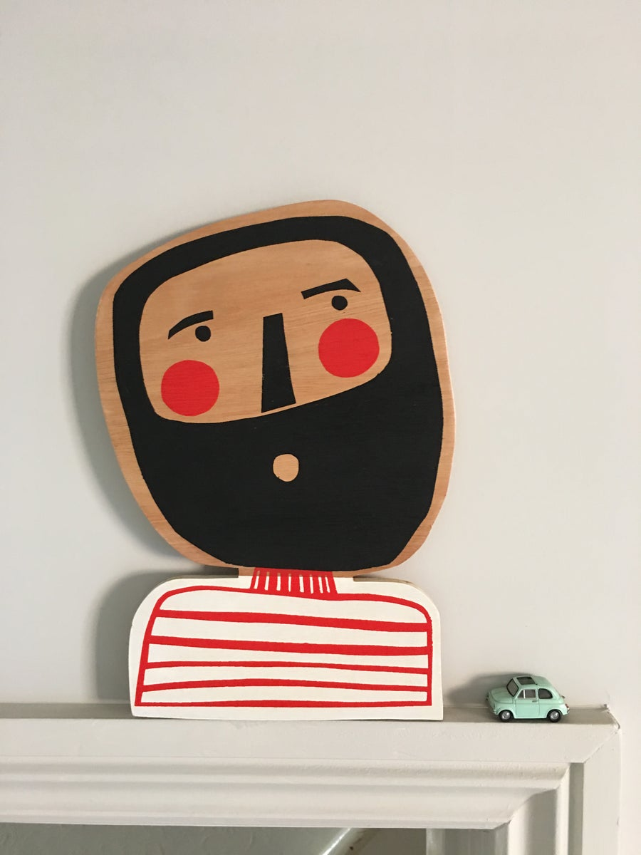 Image of The Beardy Mister - Hand Screen Printed Wall Plaque