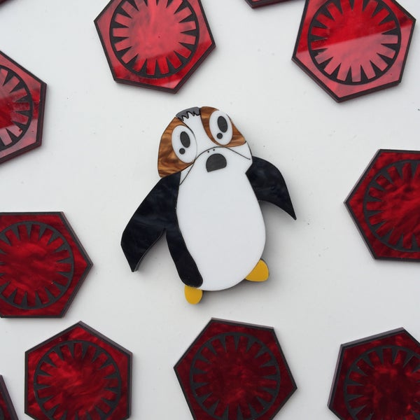 Image of Space Puffin Brooch