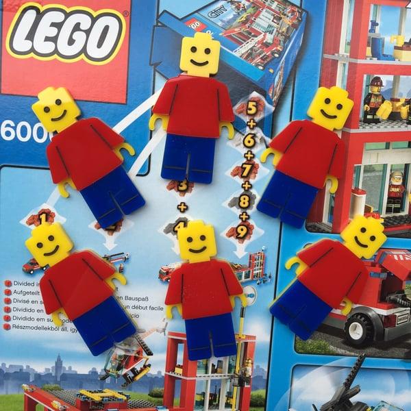 Image of Lego Man Brooch