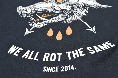 "Image of ""We All Rot The Same"" Black T-Shirt"