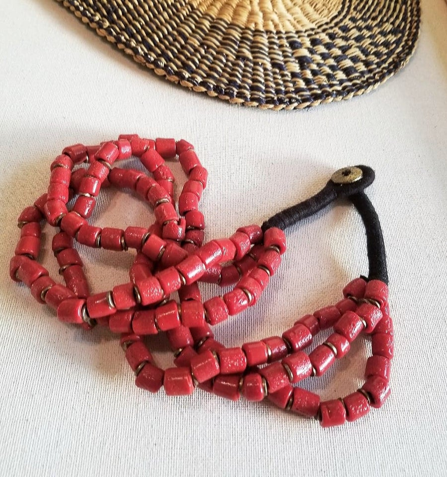Image of Pupa • Beaded Necklace