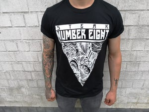 Image of T-SHIRT LOGO BLACK White Print