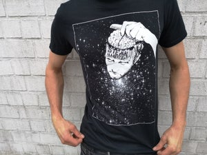 Image of T-SHIRT HERSENKAM BLACK White Print