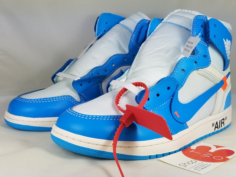 "Image of Air Jordan 1 X OFF-WHITE ""UNC"""